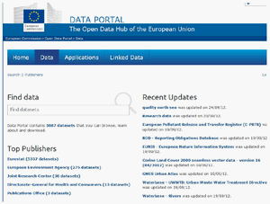 Captura de pantalla de data.gov.eu